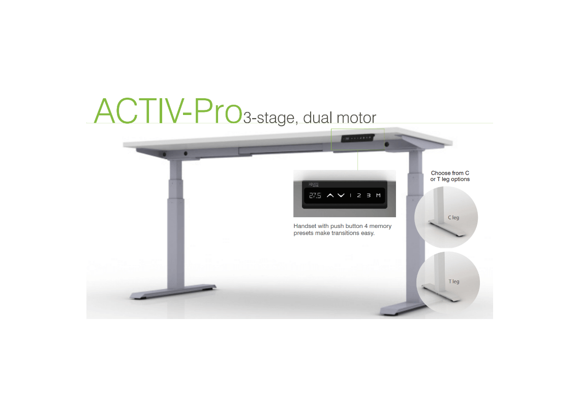 Amq Activ Pro 3 Stage Table Base Pacific Ergonomics