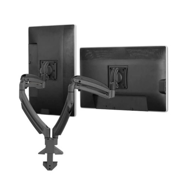 CHF-K1D220B Desk Mount Dual Display, Dual Armed
