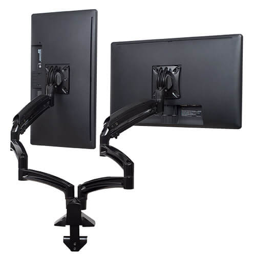 Merveilleux Chief Kontour K1D230B Desk Mount Dual Monitor Arms ...