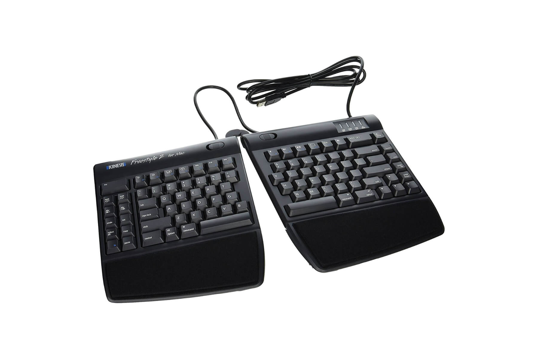 Kinesis Freestyle2 Keyboard W Vip3 Lifters Pc Pacific