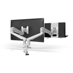 Monitoir arm with laptop tray