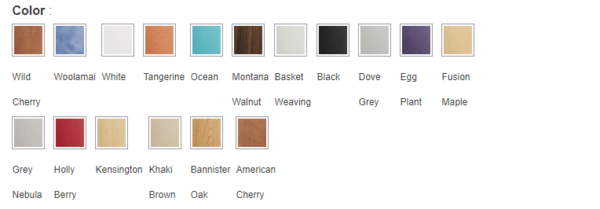 Laminate color options