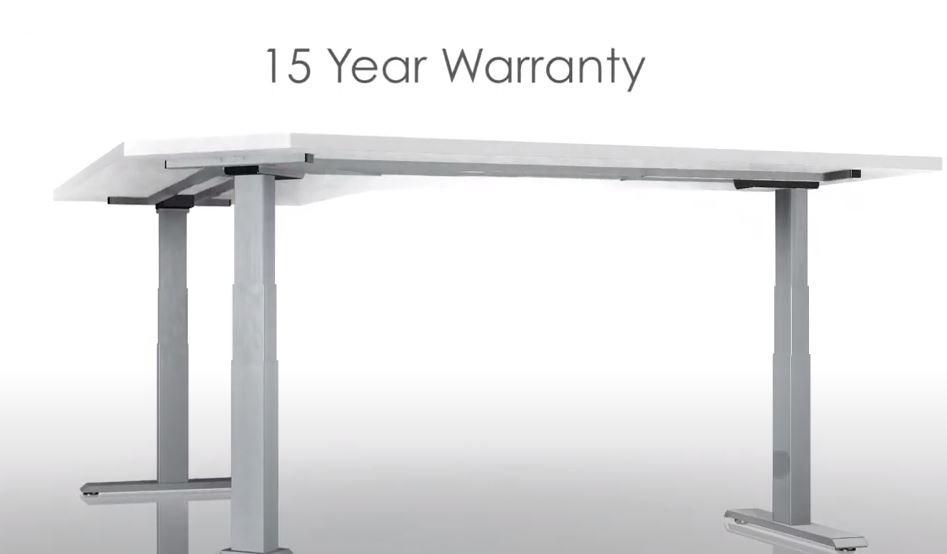 15 year warranty on commercial standing desks