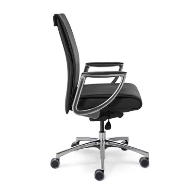 Side view of conference chair
