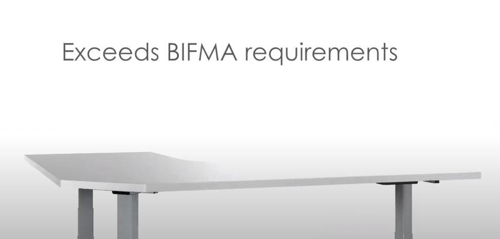 Exceeds bifma requirements for commercial grade height adjustable desks