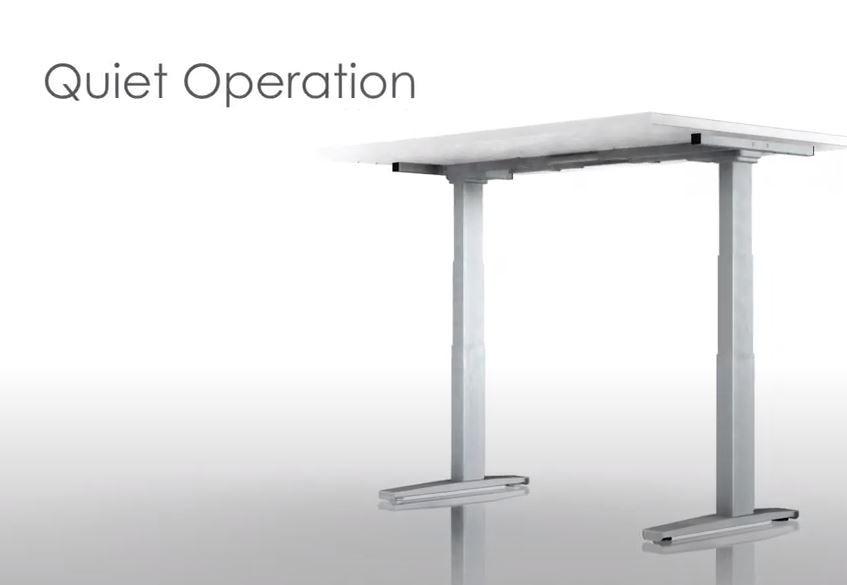 Quiet commercial grade height adjustable desk