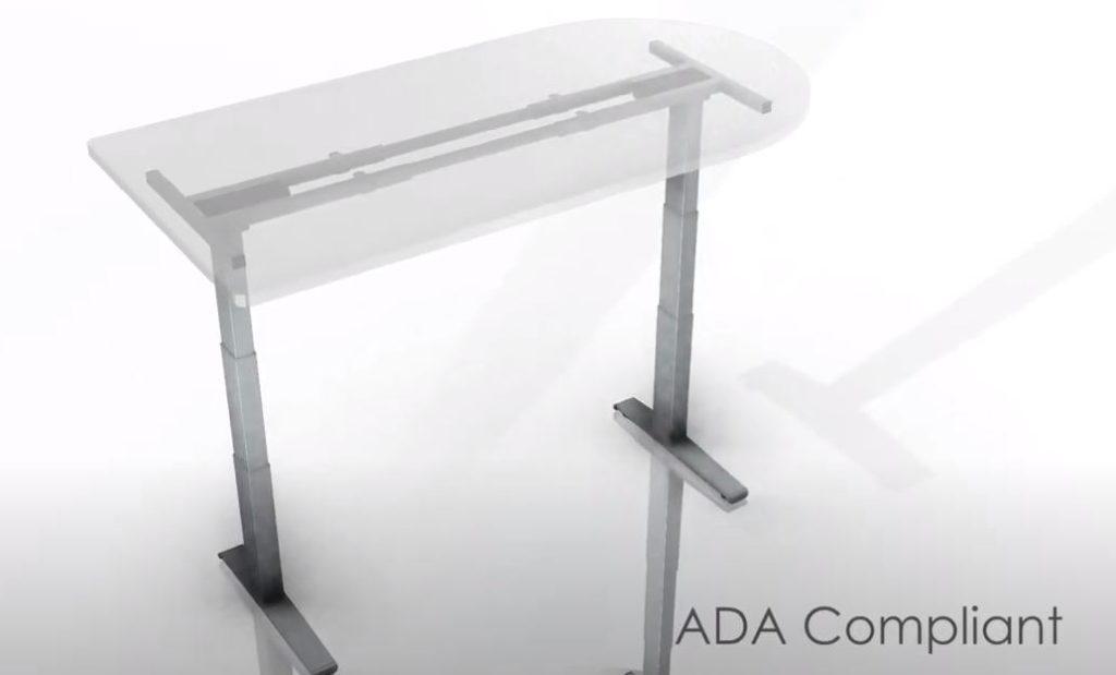 ADA compliant commercial grade height adjustable desk