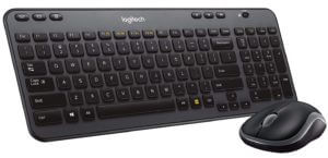 Flat keyboard with mouse