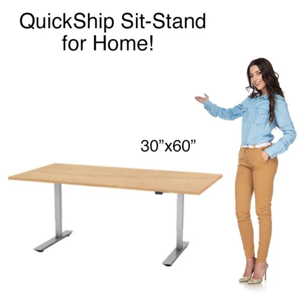 QS 2 leg sit-stand 30x60