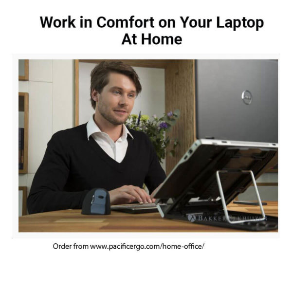 Man working on a laptop at home