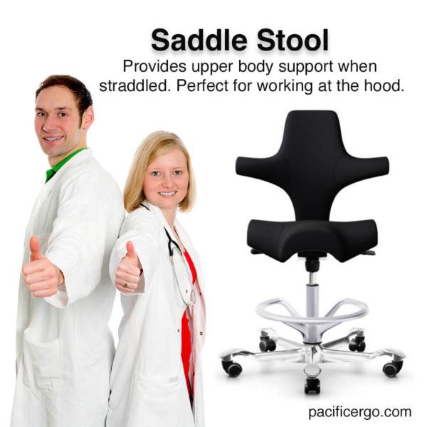 Capisco Lab Saddle Stool