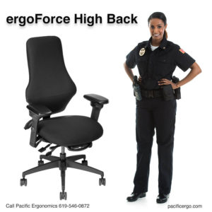 Law enforcement task chair