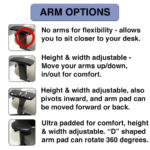 Custom chair options