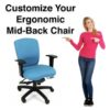 Customize Your Mid Back Chair