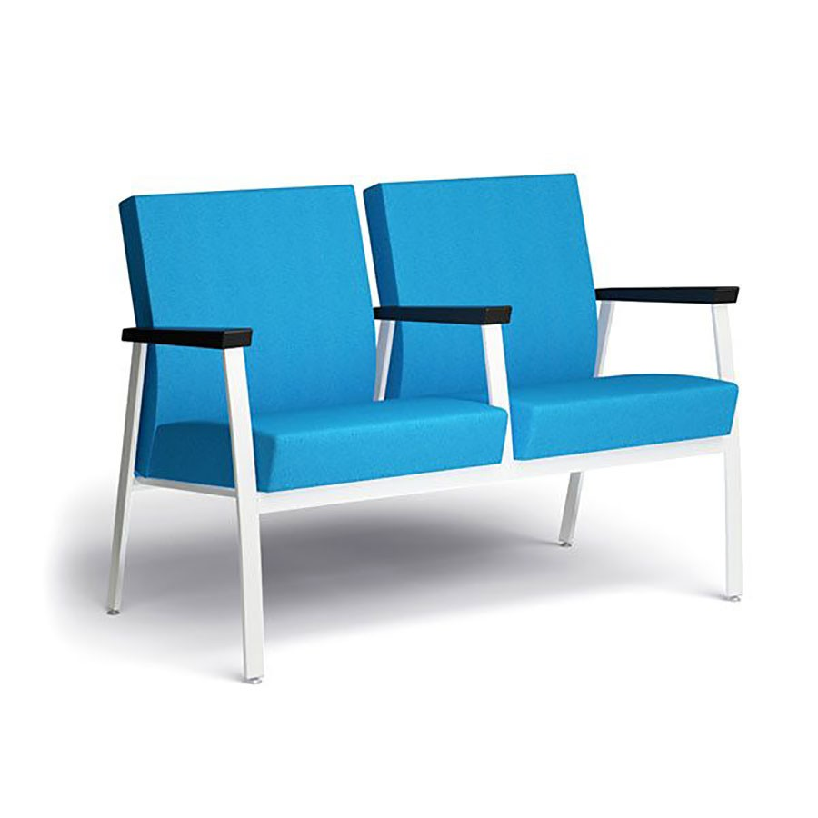 Sophie double lounge chair w/ middle armrest