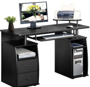 Watch out for keyboard trays that are not adjustable for a home office desk