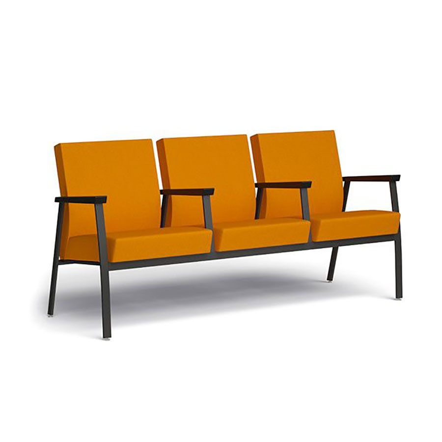 Sophie triple lounge chair w/ middle armrests