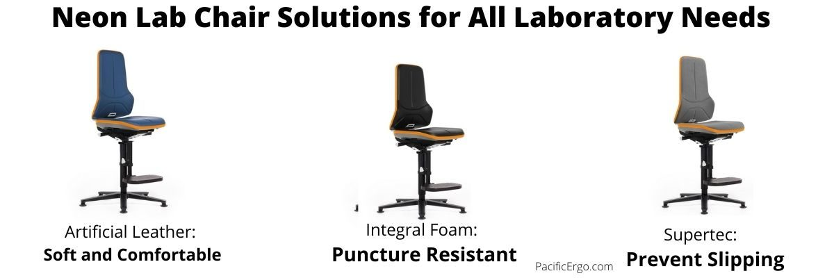 Lab stools with footrests