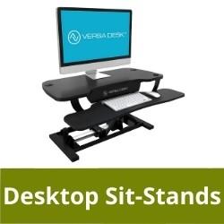 Desktop sit stands
