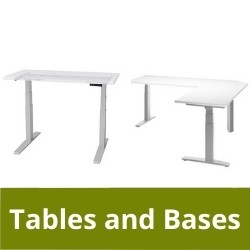 Ergonomic tables and bases