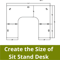 Create the Size of Sit Stand Desk