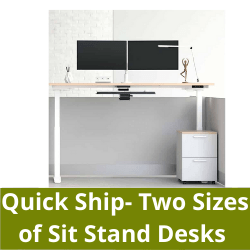 Quick Ship Two Sizes of Sit to Stand Desks