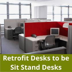 Retrofit Desks to be height adjustable