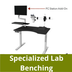 Specialized height adjustable lab benching in San Diego