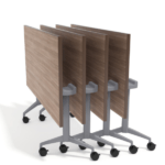 Laminate training tables foldable