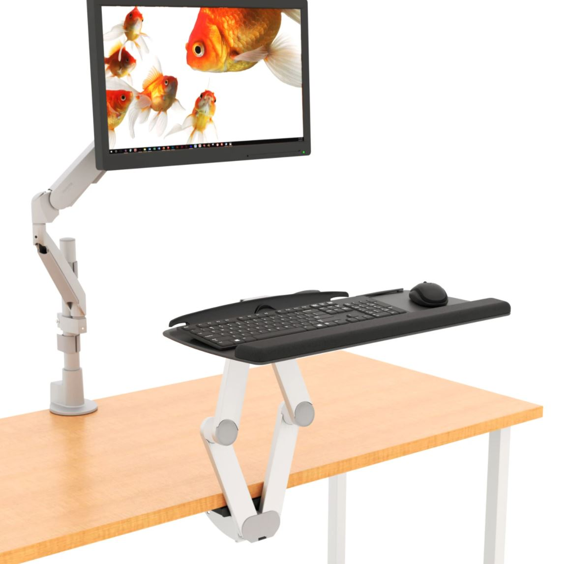 S2S sit stand keyboard tray