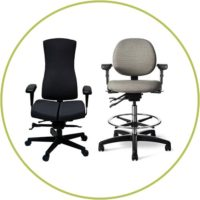 Specialty collaborative, lab stools and specialty ergonomic seating
