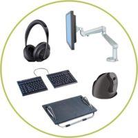 Ergonomic accessories for office furniture decreases injuries