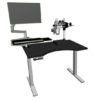 Microscope benching that is height adjustable