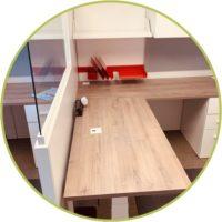 Modular San Diego office furniture Dealership with benching