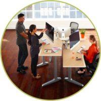 San Diego office furniture sit stand desksx