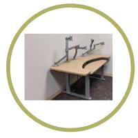 San diego reading room height adjustable tables
