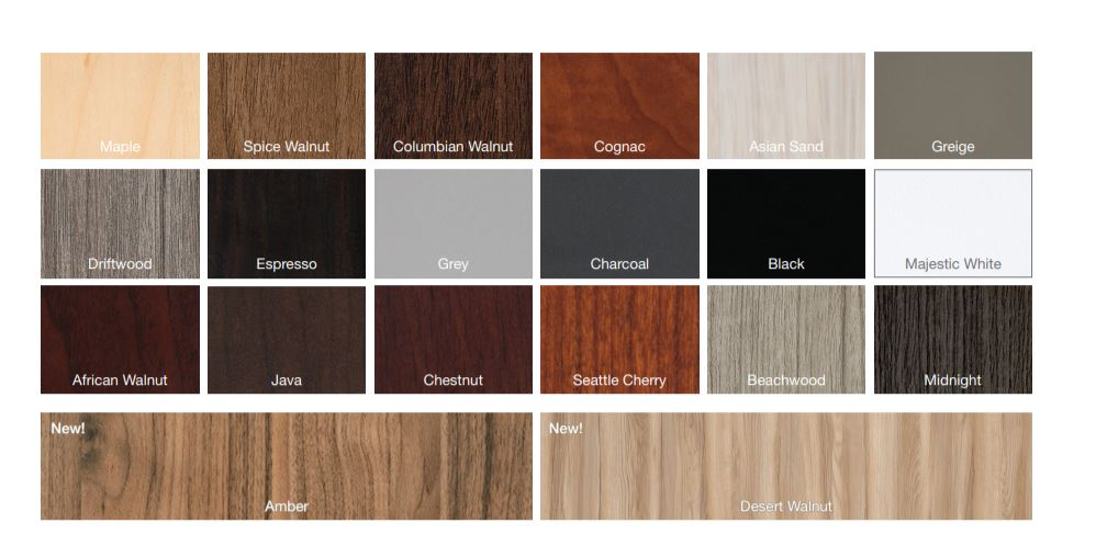 Laminate Color option for executive office