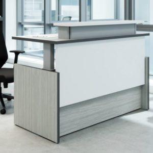 Height adjustable receptionist desk in San Diego