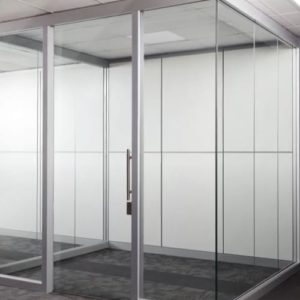 Frameless glass modular walls in San Diego are beautiful and functional
