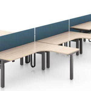 L shape San Diego desk benching