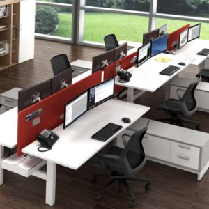 San Diego benching office furniture with Color